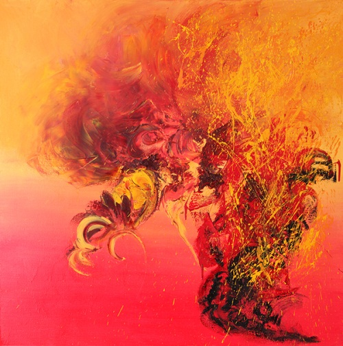 Dance!, 100x100cm, oil on canvas Kristina Sretkova Berlin 2011