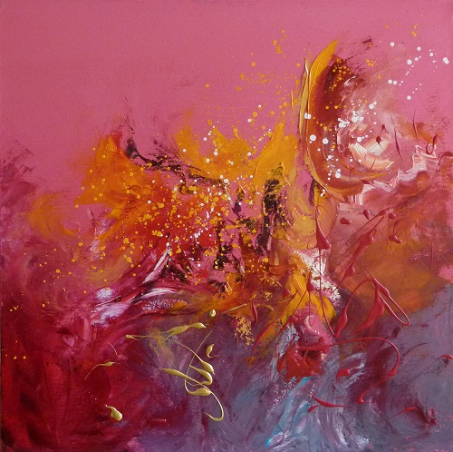 Words of Beauty, 90x90cm, oil on canvas, Kristina Sretkova 2012 Sofia-Berlin