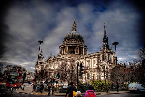 London , saint paul hdr vignettatura