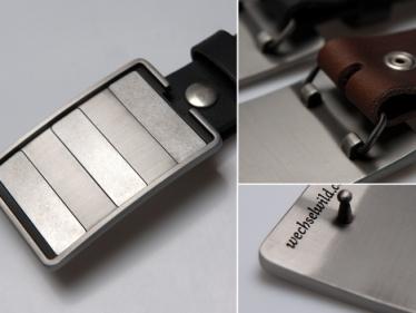 wechselwild – Custom Buckle – Silber matt – unisex