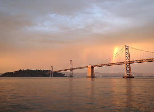 Partial Rainbow over Bay Bridge