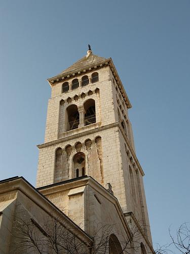 Tower of Lutheran church in Jerusalem