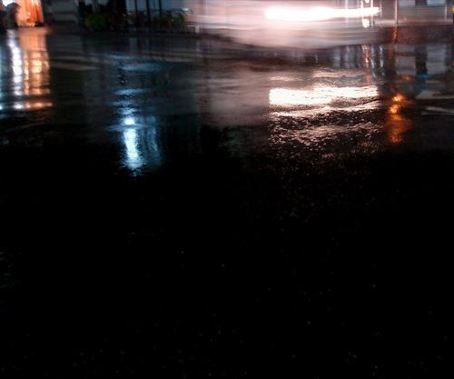 rain. asphalt. headlight
