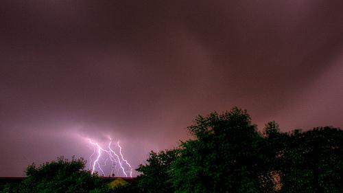 Gewitter über Düsseldorf