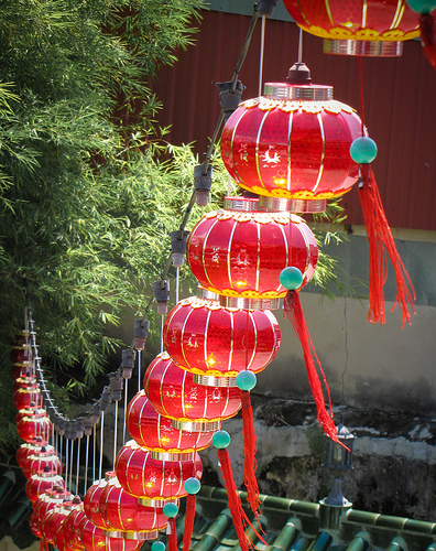 Lanterns at a Daoist temple