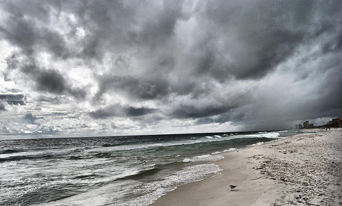 Storm coming in Panama City Beach