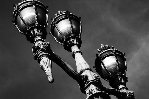 lantern in front of the Royal Palace of Brussels
