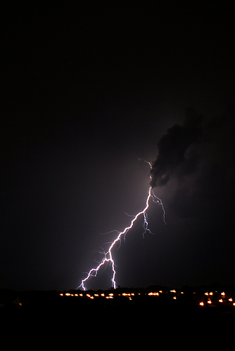 storm over GlogowPoland