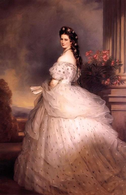 Kaiserin Elisabeth von Österreich. Gemälde von Franz Xaver Winterhalter, 1865