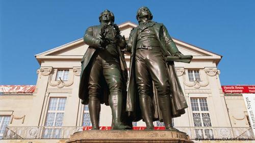 Goethe Schiller Denmal Weimar
