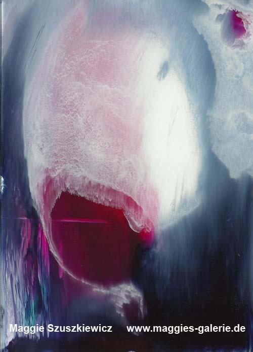 Face 3, 2012, Acryl auf Glas, 30x30 cm
