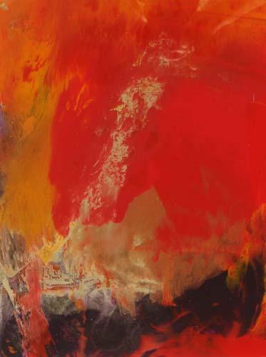 Seele, 2012, Hinterglasmalerei, 60 x 50 cm