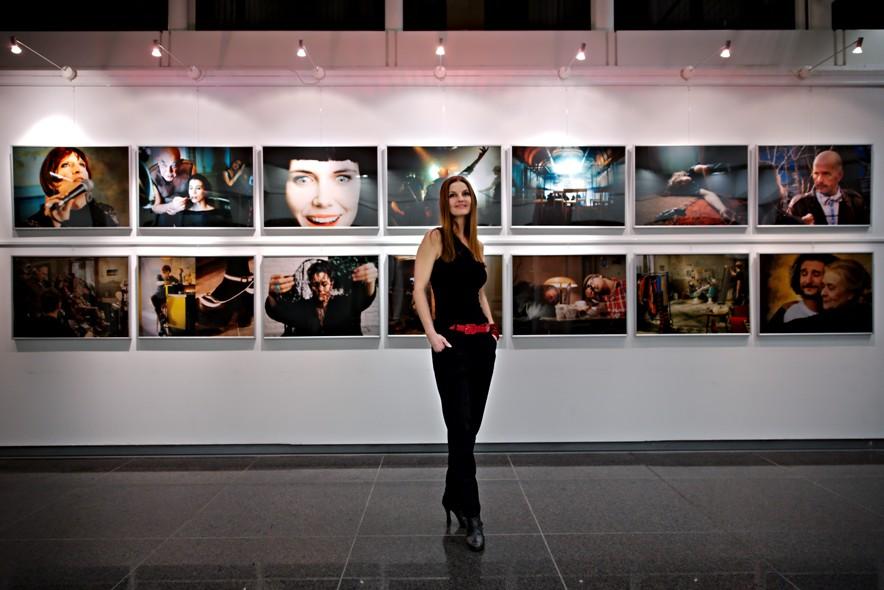 Fotoausstellungseröffnung Inside King Ping Foyer Galerie Sparkasse 09-01-2014